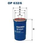 Filtr oleju FILTRON OP632/6