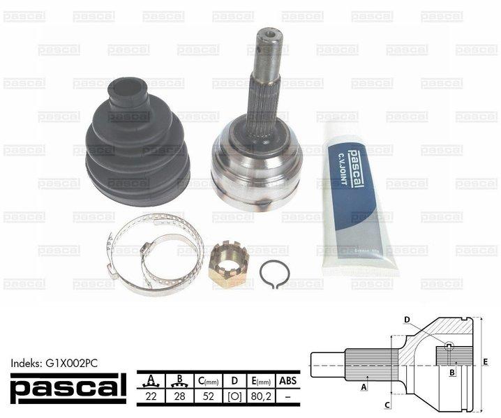 Przegub napędowy zewnętrzny PASCAL G1X002PC - darmowa dostawa do 5000 warsztatów Motointegrator Partner i 170 sklepów Inter Cars