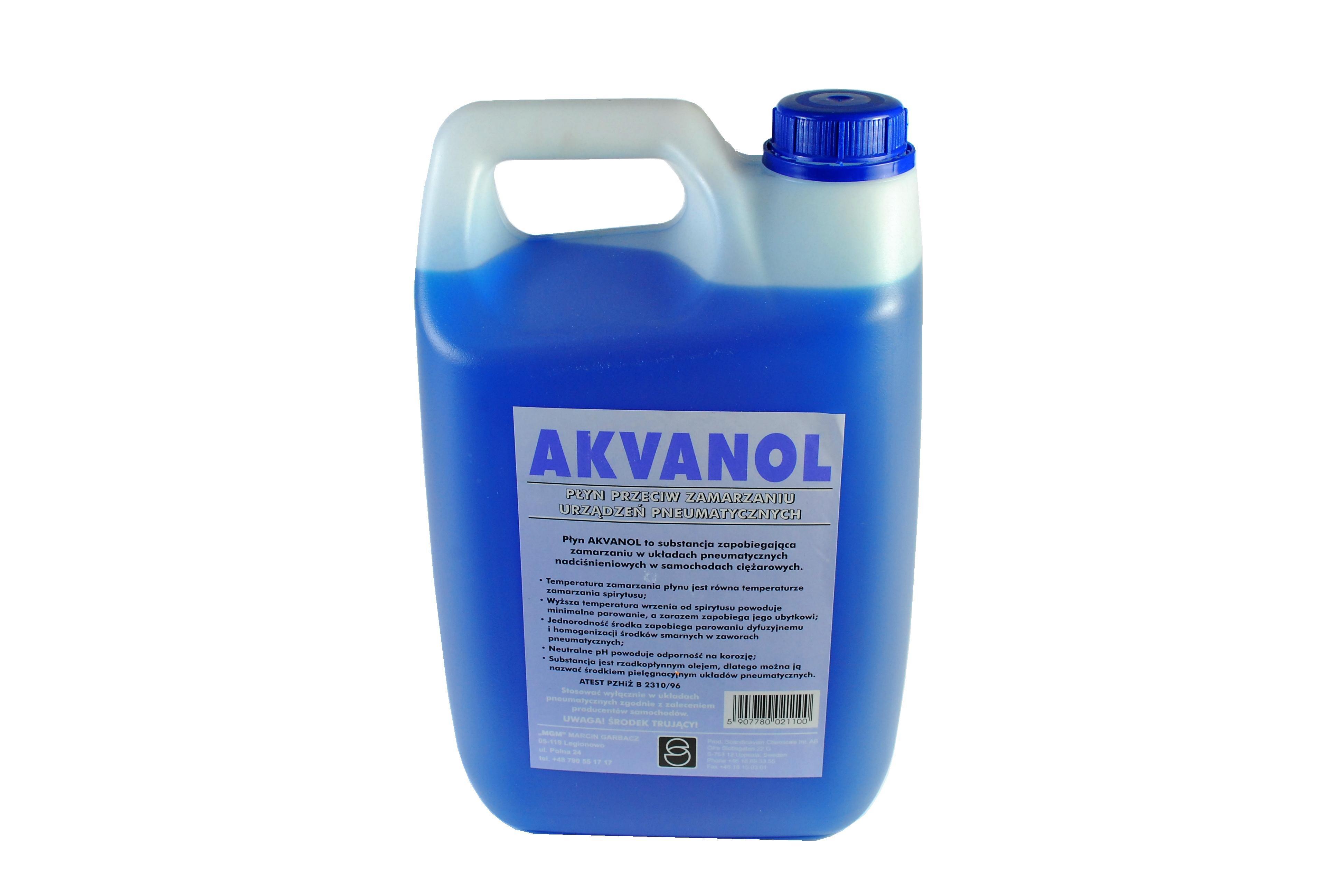 Odmrażacz układów pneumatycznych MGM GARBACZ Akvanol, 5 litr