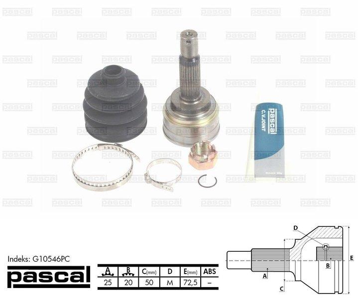 Przegub napędowy zewnętrzny PASCAL G10546PC - darmowa dostawa do 5000 warsztatów Motointegrator Partner i 170 sklepów Inter Cars