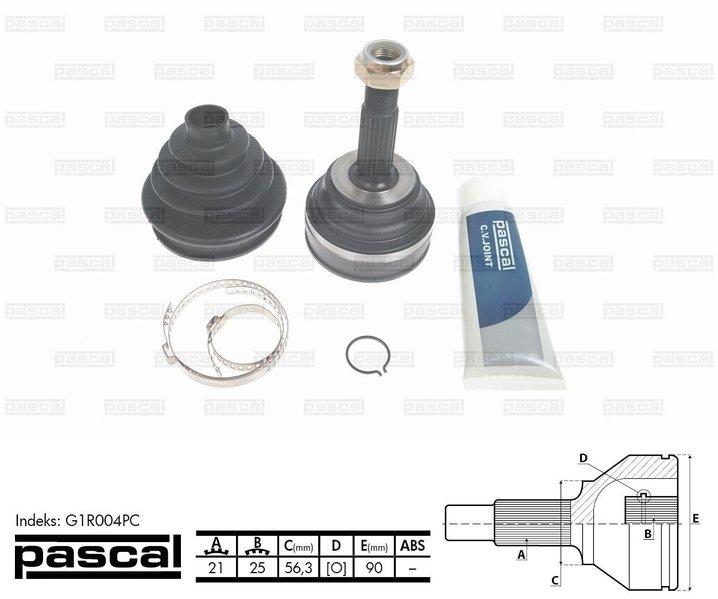 Przegub napędowy zewnętrzny PASCAL G1R004PC - darmowa dostawa do 5000 warsztatów Motointegrator Partner i 170 sklepów Inter Cars
