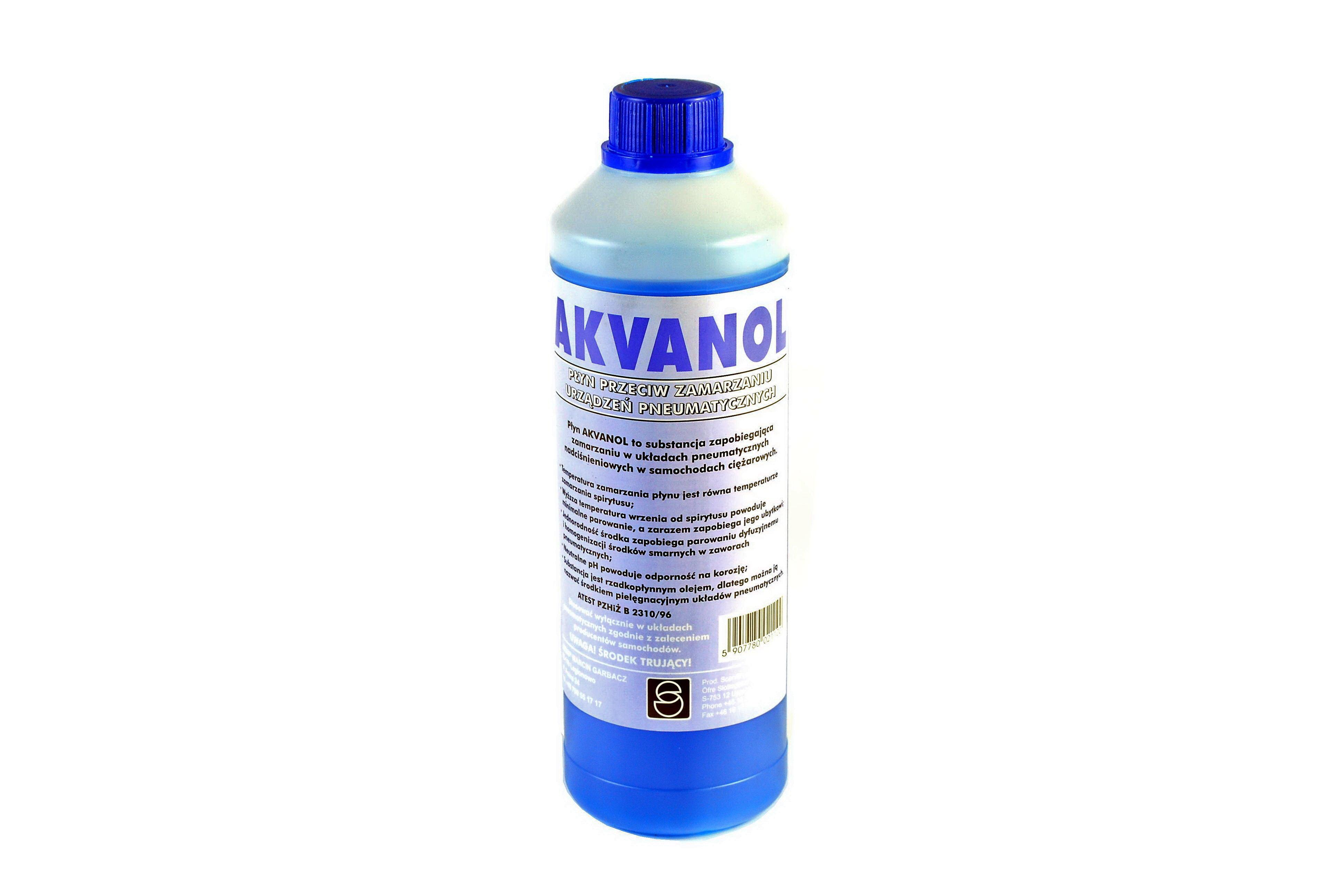 Odmrażacz układów pneumatycznych MGM GARBACZ Akvanol, 1 litr